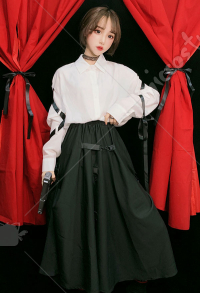 Dark Gothic Japanese Style Long Skirt Cool Girls Punk Skirt