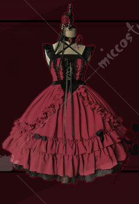 Dark Gothic Seven Deadly Sins JSK Cute Gothic Lolita Dress with Ruffles