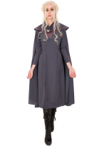 Game of Thrones A Song of Ice And Fire Daenerys Targaryen Black Dress Cosplay Gown Costume