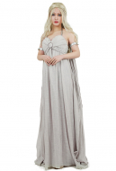 [Free US Economy Shipping] Game of Thrones A Song of Ice And Fire Daenerys Targaryen Cosplay Grey Long Dress