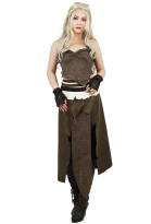 Game of Thrones A Song of Ice And Fire Daenerys Targaryen Cosplay Costume Brun
