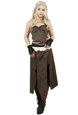 Game of Thrones A Song of Ice And Fire Daenerys Targaryen Brown Cosplay Costume