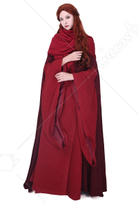 Game of Thrones La mujer roja Lady Melisandre de Asshai Melisandre Cosplay Costume Dress Gown