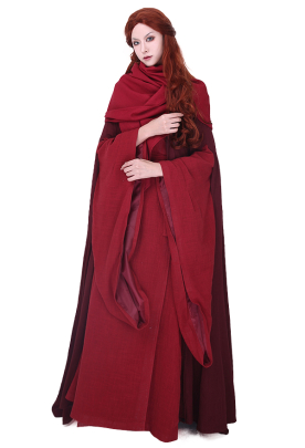 Game of Thrones The Red Woman Melisandre Cosplay Costume Dress Gown