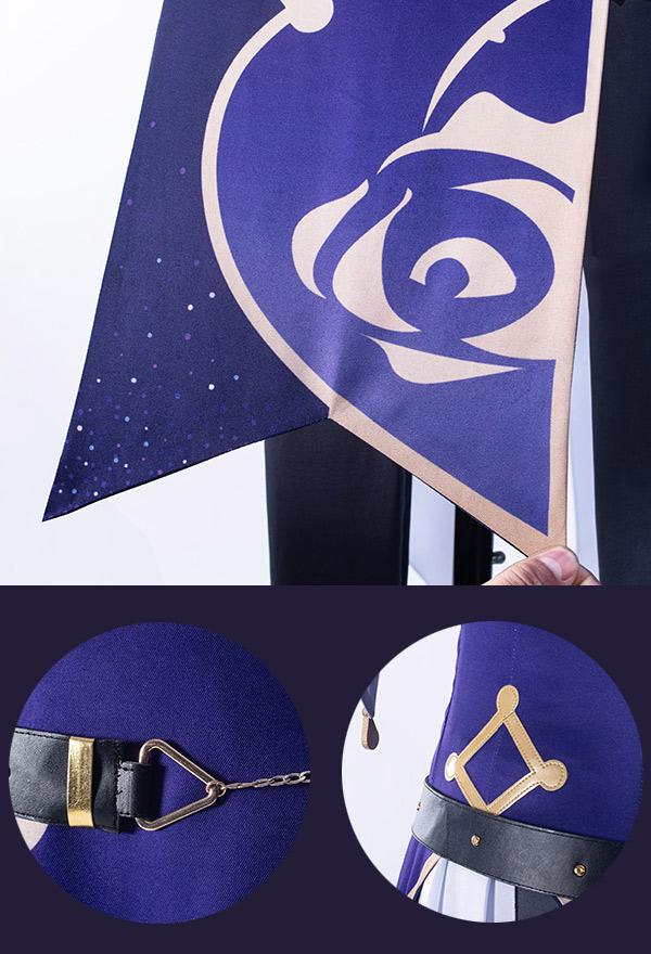 Genshin Impact Sexy Lisa Minci Electro Cheongsam Kleid Cosplay Kostüm mit Hexenhut