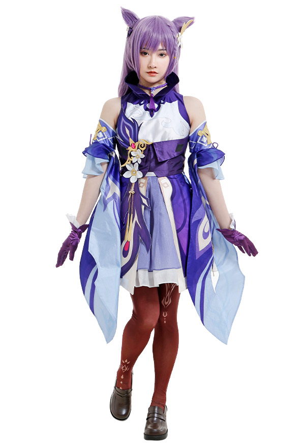 Genshin Impact Keqing Yuheng der Qixing Cosplay Kostüm