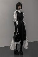 Dark Gothic Nun Costume Black Gothic Little Dress Black Style Dress