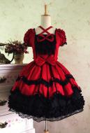 Gothic Bowknot Lace Lolita Stage Evening Dress Princess Lolita Court Dress