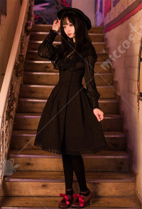 Dark Gothic Lolita Dark Grain Skirt Elegant High Waist Skirt British Style Classical Skirt