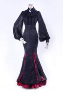 Gothic Lolita Lorelei Stand Collar Crumpled Sleeve Chiffon Shirt