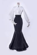 Gothic Lolita Lorelei Stripe Fishtail Long Skirt