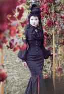 Gothic Lolita Lorelei Dark Grain Solid Color Fishtail Long Skirt