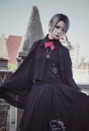 Gothic Cloak Taisho Style Embroidered Shirt Cloak like Shirt