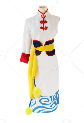[Free US Economy Shipping] Anime Gintama The Movie The Final Chapter Future Kagura COS Clothing Cheongsam Cosplay Costume