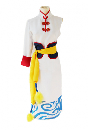 [Free Shipping]Anime Gintama: The Movie: The Final Chapter Future Kagura COS Clothing Cheongsam Cosplay Costume