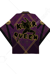 JoJos Bizarre Adventure Kira Yoshikage KILLER QUEEN Cosplay Kimono Jacket Costume Japanese Clothing Outfit