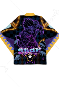 JoJos Bizarre Adventure Jotaro Kujo Star Platinum Cosplay Kimono Jacket Costume Japanese Clothing Outfit