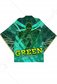 JoJos Bizarre Adventure Noriaki Kakyoin Hierophant Green Cosplay Kimono Jacket Costume Japanese Clothing Outfit