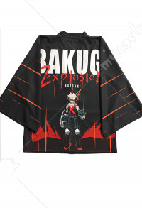 Boku no Hero Academia Katsuki Bakugou Cosplay Kimono Jacket Costume Japanese Clothing Outfit