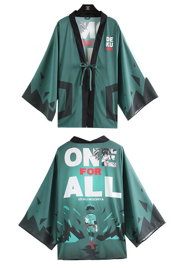 My Hero Academia Boku no Hero Academia Deku Izuku Midoriya Cosplay Kimono Jacke Cosplay Kostüm Japanisches Outfit Haori