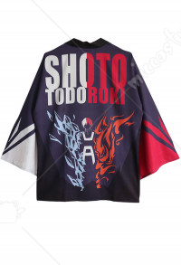 Boku no Hero Academia Todoroki Shoto Cosplay Kimono Jacket Costume Japanese Clothing Outfit
