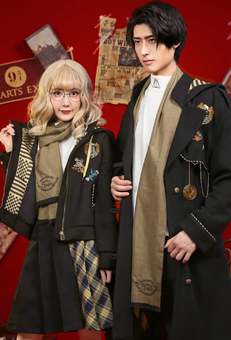 Harry Potter Fantastic Beasts the Crimes of Grindelwald Cosplay Hufflepuff Costume Daily Suit for Men and Women