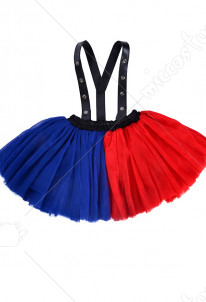 Harley Quinn Girl Red and Blue Strap Skirt for Kids