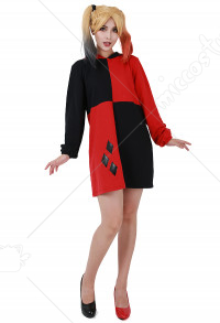 Harley Cosplay Red & Black Hoodie Coat Cosplay Costume