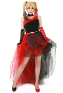 Red & Black Punk Dress Cosplay Costume Inspired by Harley Quinn Make to Order