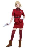 Hellsing Seras Victoria Burgundy Red Cosplay Costume Vampire Demon Uniform