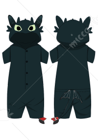 How to Train Your Dragon Toothless Unisex Sleepwear One Piece Pajamas Cosplay Costume