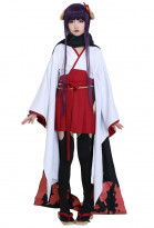 Inu x Boku SS Shirakiin Ririchiyo Cosplay Kimono Dress with Horn Headdress