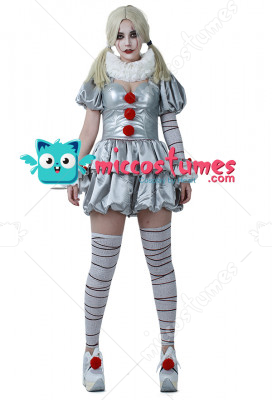 Movie It Pennywise Women Cosplay Costume the Dancing Clown Costume for Halloween  sc 1 st  Miccostumes.com & Movie It Pennywise Women Cosplay Costume the Dancing Clown Costume ...