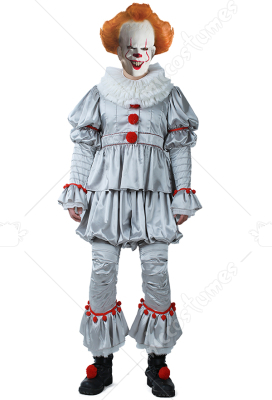 Movie It Pennywise Men Cosplay Costume The Dancing Clown Costume For