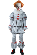 Movie It Pennywise Men Cosplay Costume the Dancing Clown Costume for Halloween