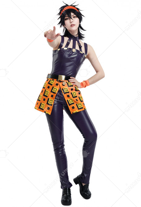 JoJos Bizzare Adventure Golden Wind Narancia Ghirga Cosplay Kostüm mit Bandana