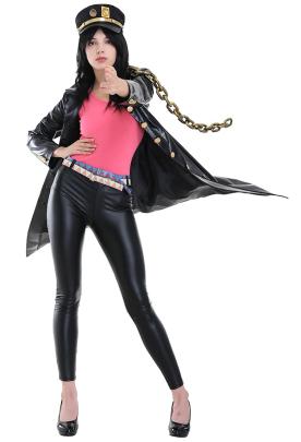 JoJos Bizarre Adventure Female Jotaro Kujo Leather Cosplay Costumes for Women