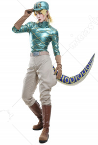 JoJos Bizarre Adventure 7 Steel Ball Run Diego Brando Dio Full Set Cosplay Costume with Hat and Dinosaur Tail