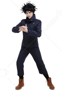 Jujutsu Kaisen Megumi Fushiguro Tokyo Metropolitan Curse Technical College Fake-Two DK Student School Uniform Set Long Sleeved High Collar Jacket and Pants Cosplay Costume Outfits