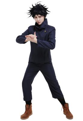 Jujutsu Kaisen Megumi Fushiguro Tokyo Metropolitan Curse Technical College Fake-Two DK Student School Uniform Set Long Sleeved High Collar Jacket and Pants Cosplay Costume Outfits