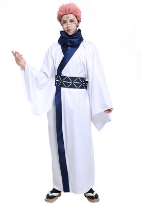 Jujutsu Kaisen Ryomen Sukuna King of Curses Cosplay Costume Men Casual Yukata Robe Japanese Style Simple Kimono Outfit with Obi Scarf