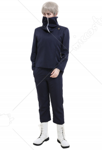 Jujutsu Kaisen Inumaki Toge Tokyo Metropolitan Curse Technical College Fake-Two DK Student School Uniform Set Long Sleeved High Collar Jacket and Pants Cosplay Costume Outfits