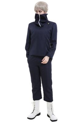Jujutsu Kaisen Inumaki Toge Tokyo Metropolitan Curse Technical College Fake-Two DK Student School Uniform Set Long Sleeved High Collar Jacket and Pants Cosplay Costume Outfits