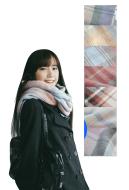 Japanese JK Uniform Tassel Plaid Wool Spinning Scarf Shawl