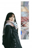 Japanese JK Uniform Tassel Plaid Wool Spinning Scarf Shawl