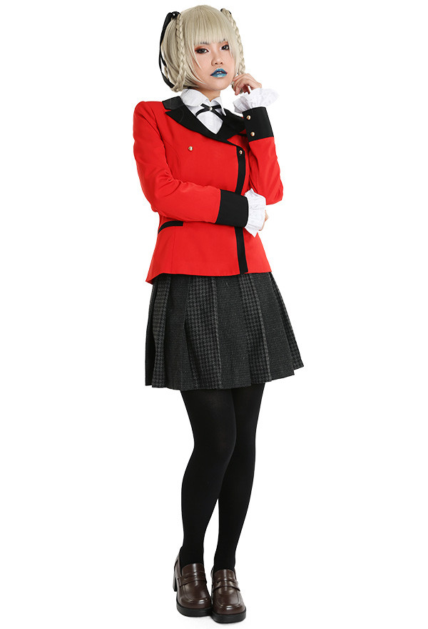 Kakegurui Compulsive Gambler Kirari Momobami Cosplay Kostüm Schuluniform