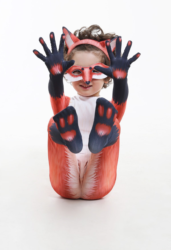 Kinder Süß Fuchs Tier Halloween Party Cosplay Kostüm Zentai