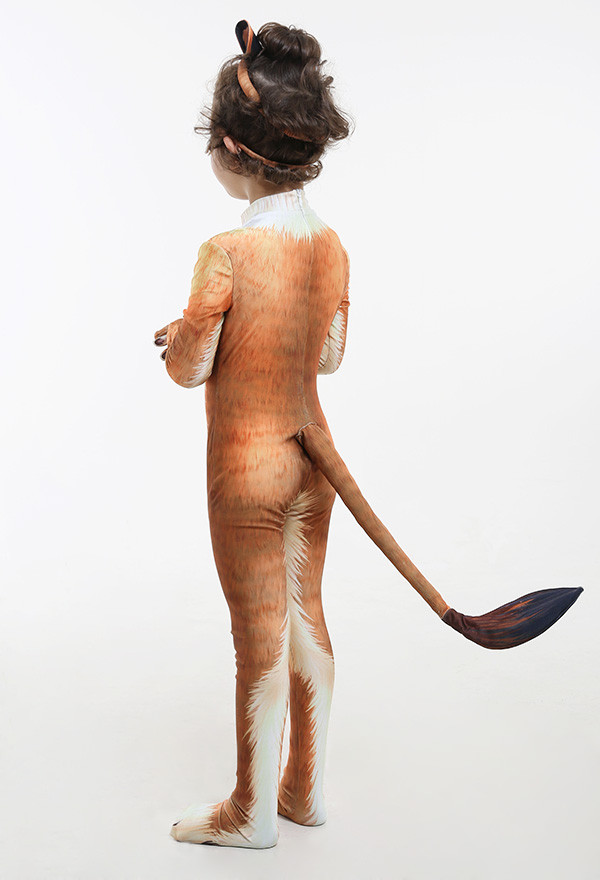 Kinder Süß Löwen  Tier Halloween Party Cosplay Kostüm Zentai