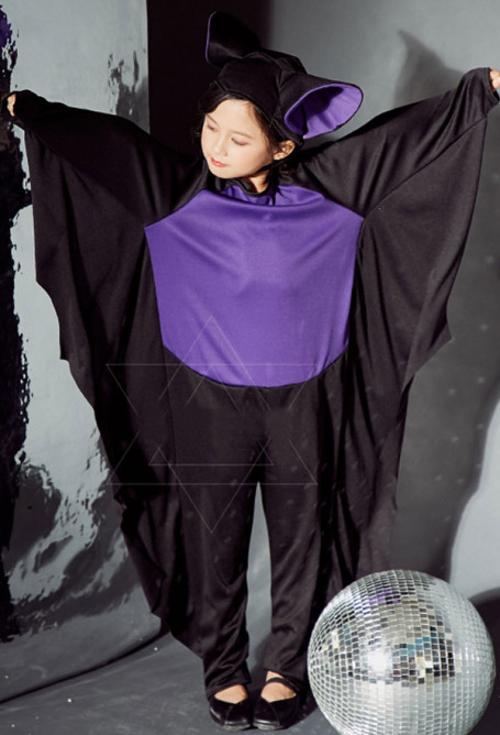 Child Little Bat Halloween Costume Funny Bodysuit for Halloween and Stage