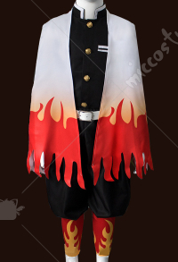 Kids Demon Slayer Kimetsu no Yaiba Rengoku Kyoujurou Haori Fullset Cosplay Costume